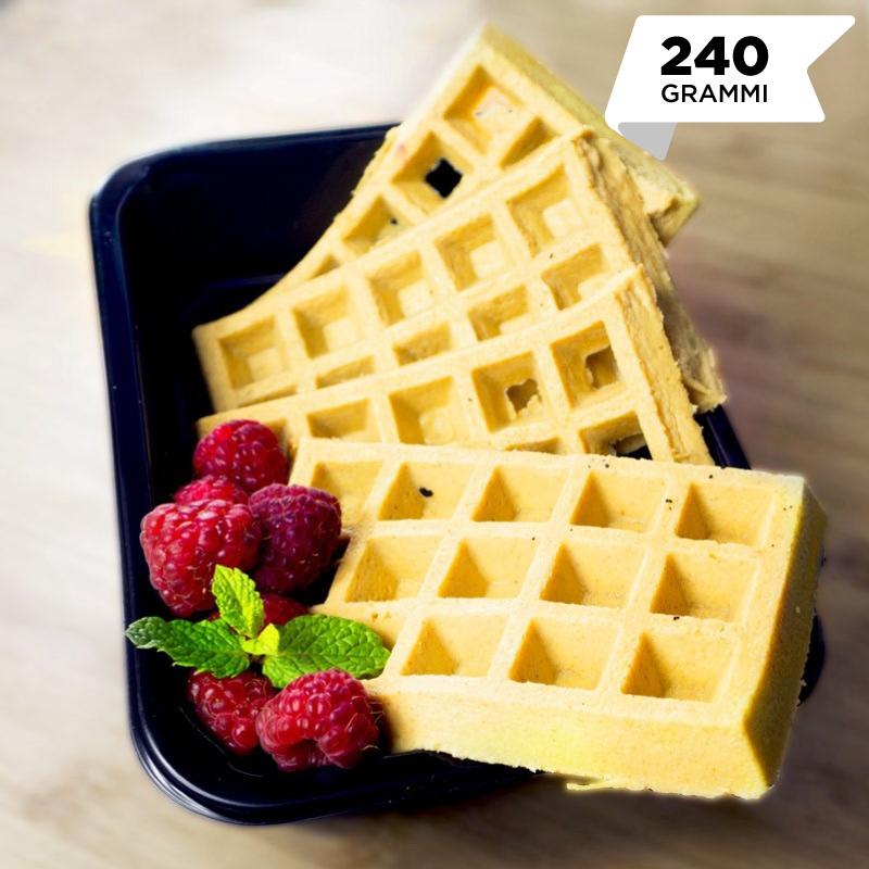 Pasti pronti | Waffle proteici al burro di arachidi 240gr (due colazioni) | 100GRAMMI