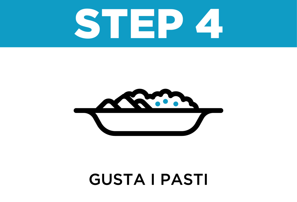 Pasti pronti | Come funziona step 3 100GRAMMI