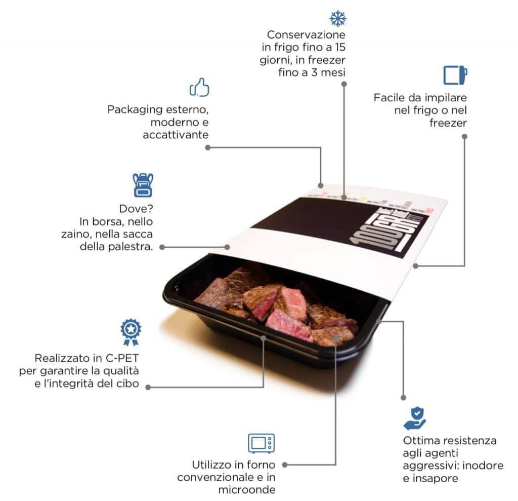 Pasti pronti | Alimentazione sana packaging | 100GRAMMI