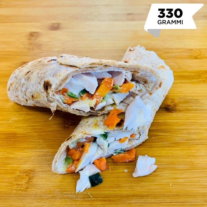 Pasti pronti | Tacos proteico con petto di pollo, carote, zucchine e salsa yogurt 3 | 100GRAMMI
