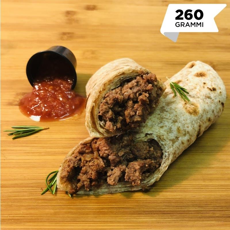 Pasti pronti | Tacos con macinato di manzo magro e salsa chili 4 | 100GRAMMI