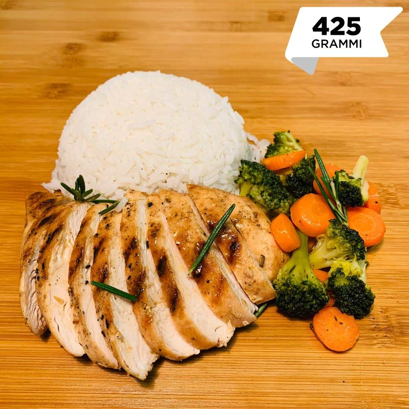 Pasti pronti | Petto di pollo grigliato con riso basmati, carote e broccoli 5 | 100GRAMMI