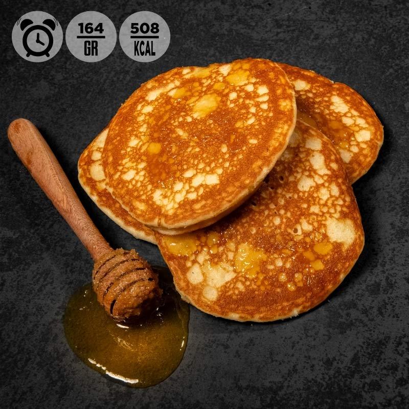Pasti pronti | colazione 100Grammi Pancake al naturale con miele millefiori