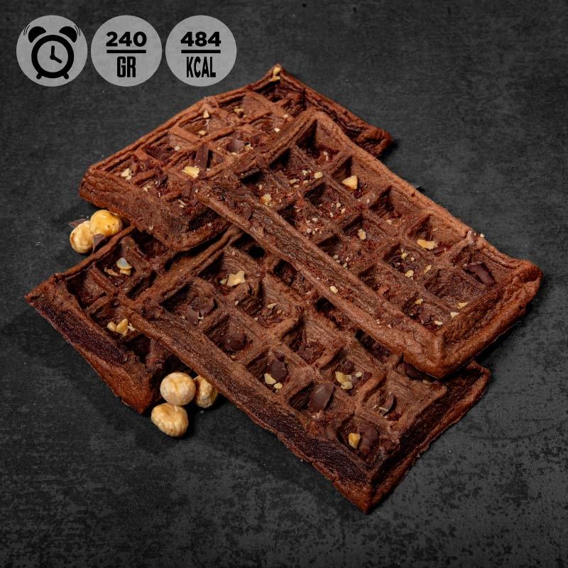 Waffle alla nocciola e gocce di cioccolato | Colazione 100Grammi