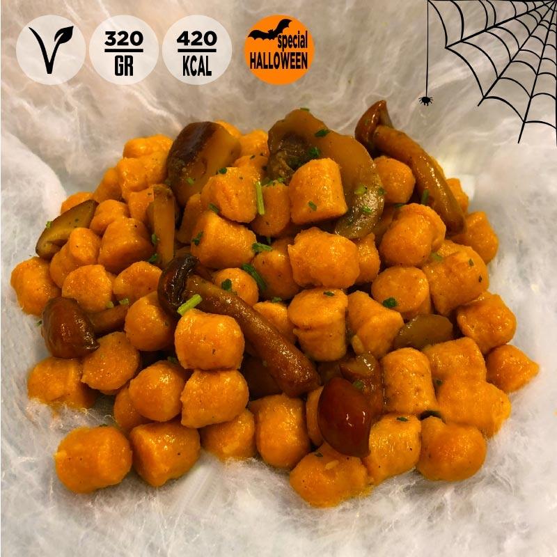 Gnocchetti di zucca con funghi, porcini e tartufo 100grammi